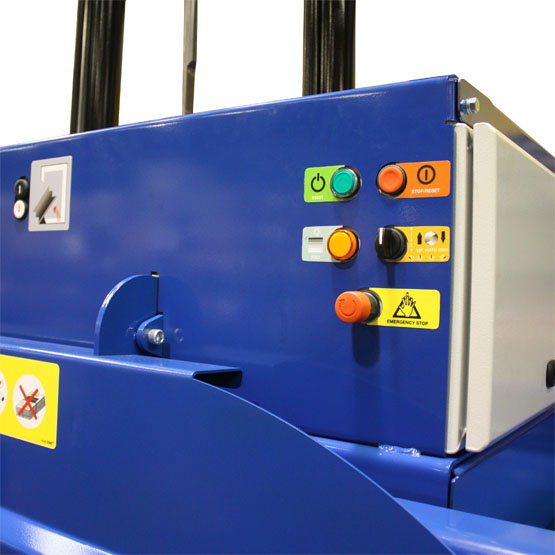 waste baler auto controls