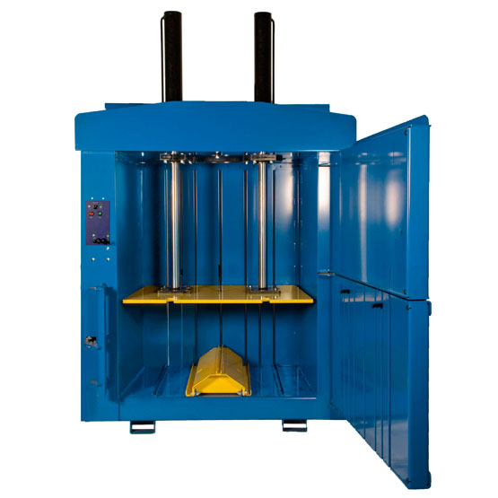 large vertical baler