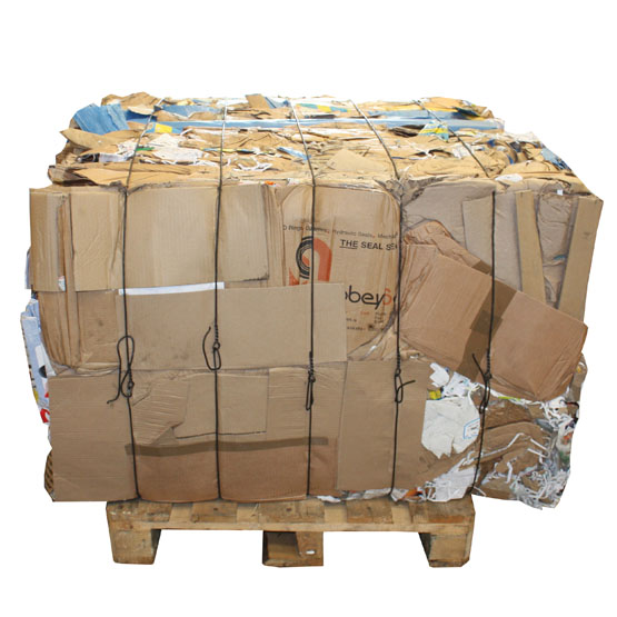 cardboard bale from the HZ70T horizontal baler
